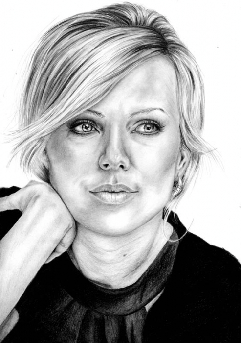 Charlize Theron by Hillcza